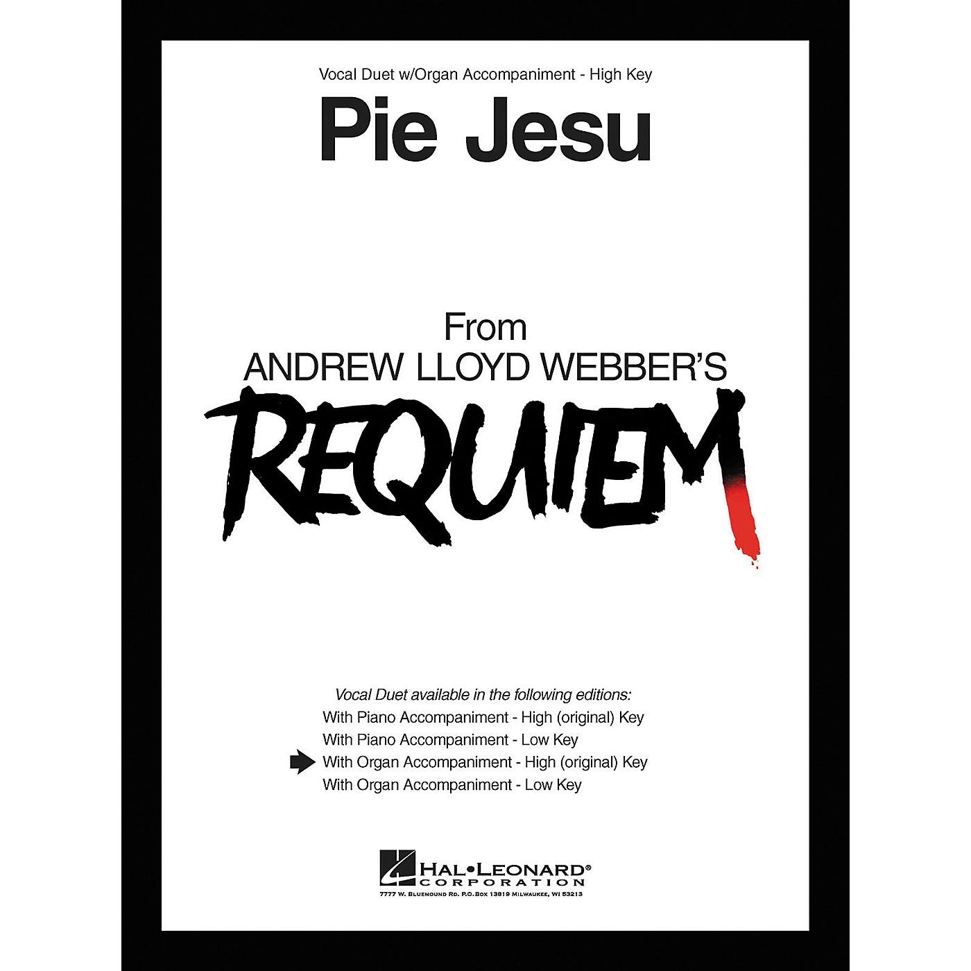 Hal Leonard Pie Jesu From Requiem Vocal Duet High Voice with Organ Accompaniment thumbnail