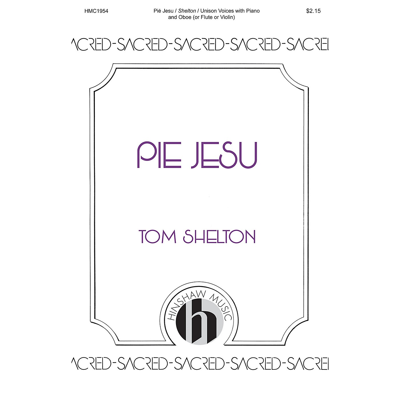 Hinshaw Music Pie Jesu UNIS arranged by Tom Shelton thumbnail