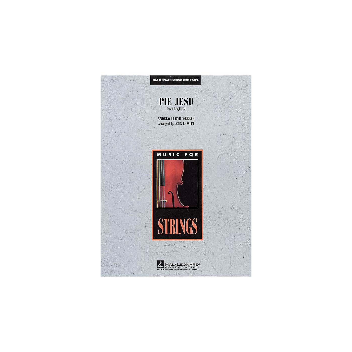 Hal Leonard Pie Jesu (from Requiem) Music for String Orchestra Series Softcover Arranged by John Leavitt thumbnail