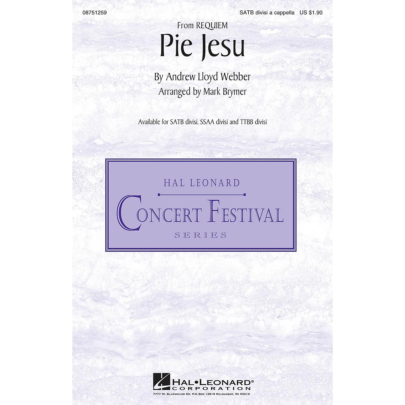 Hal Leonard Pie Jesu (from Requiem) SATB DV A Cappella arranged by Mark Brymer thumbnail