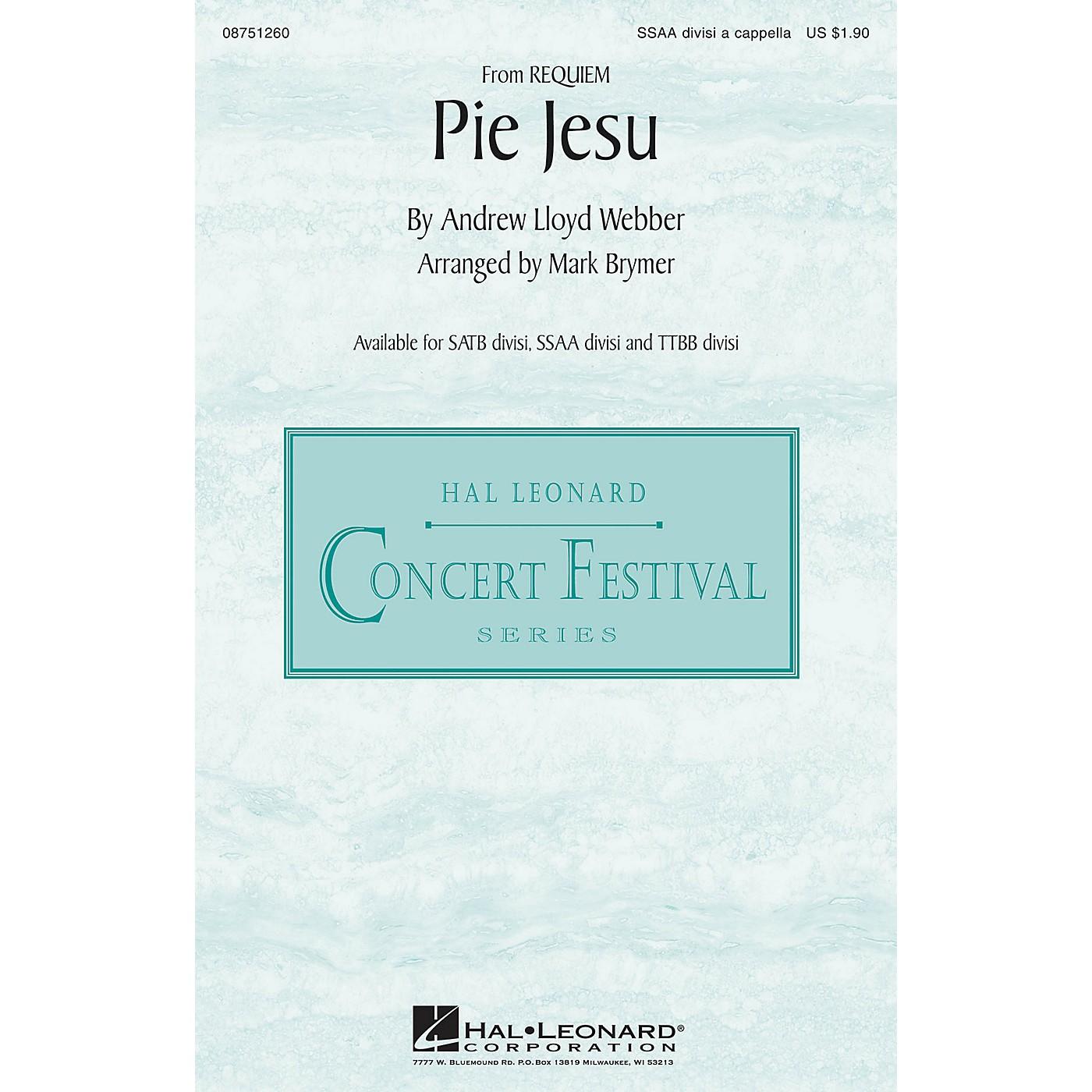 Hal Leonard Pie Jesu (from Requiem) SSAA Div A Cappella arranged by Mark Brymer thumbnail