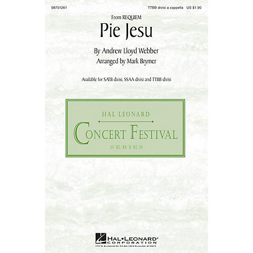Hal Leonard Pie Jesu (from Requiem) TTBB Div A Cappella arranged by Mark Brymer thumbnail