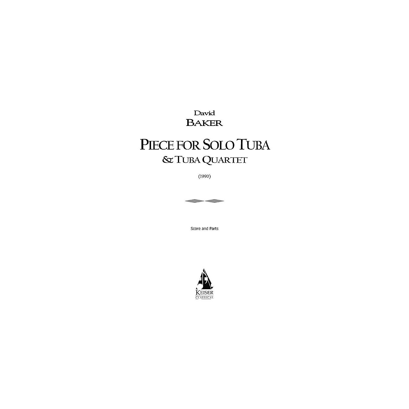 Lauren Keiser Music Publishing Piece for Solo Tuba/Tuba Quartet (Tuba Quintet) LKM Music Series Composed by David Baker thumbnail