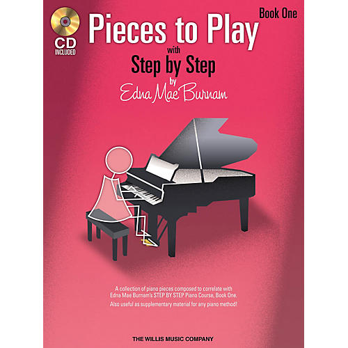 Willis Music Pieces to Play - Book 1 with CD Willis Series Softcover with CD Composed by Edna Mae Burnam thumbnail