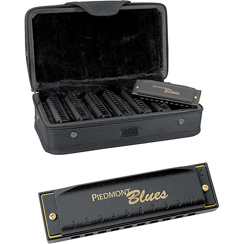 Hohner Piedmont Blues 7-Harmonica Pack with Case thumbnail