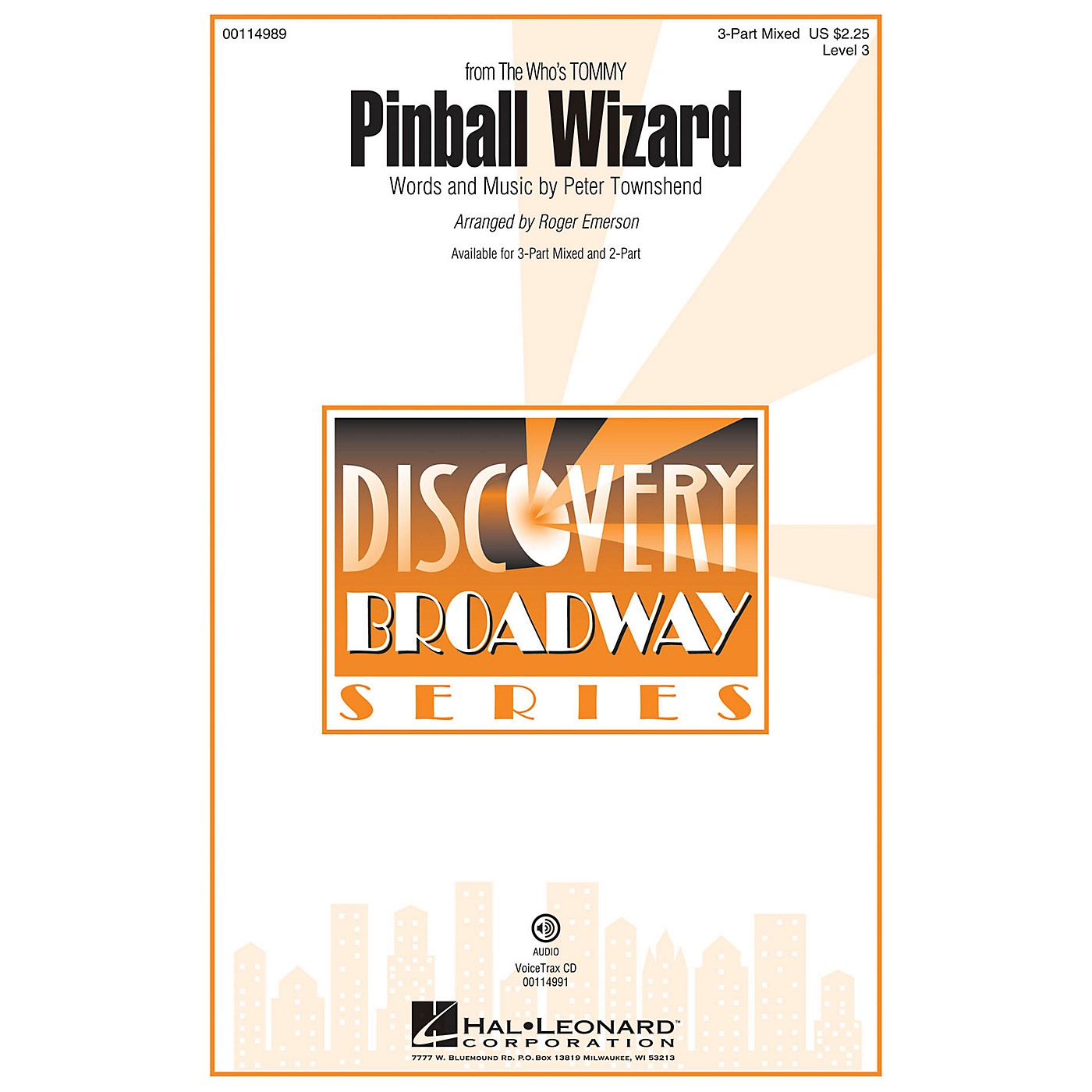 Hal Leonard Pinball Wizard (Discovery Level 3 2-Part) 2-Part by The Who Arranged by Roger Emerson thumbnail