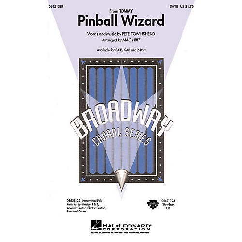 Hal Leonard Pinball Wizard (from Tommy) SATB by Who arranged by Mac Huff thumbnail