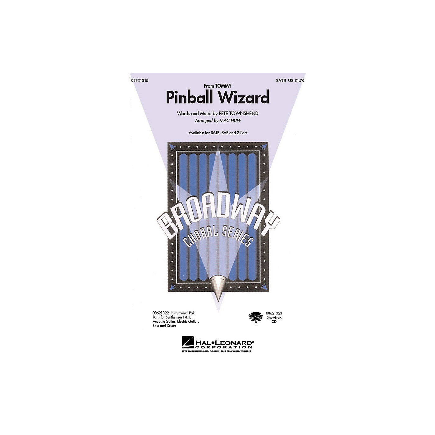 Hal Leonard Pinball Wizard (from Tommy) ShowTrax CD by Who Arranged by Mac Huff thumbnail