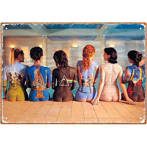 Hal Leonard Pink Floyd Back Art Tin Sign thumbnail