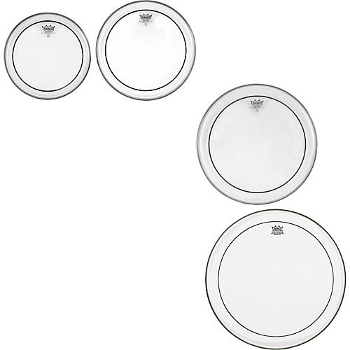 Remo Pinstripe Clear 4-piece Tom Drumhead Pack thumbnail