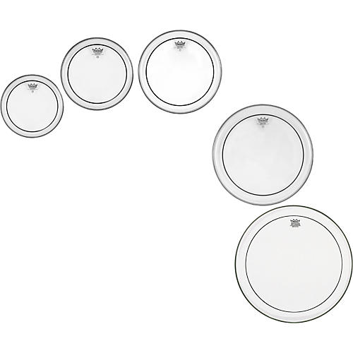 Remo Pinstripe Clear 5-piece Tom Drumhead Pack thumbnail