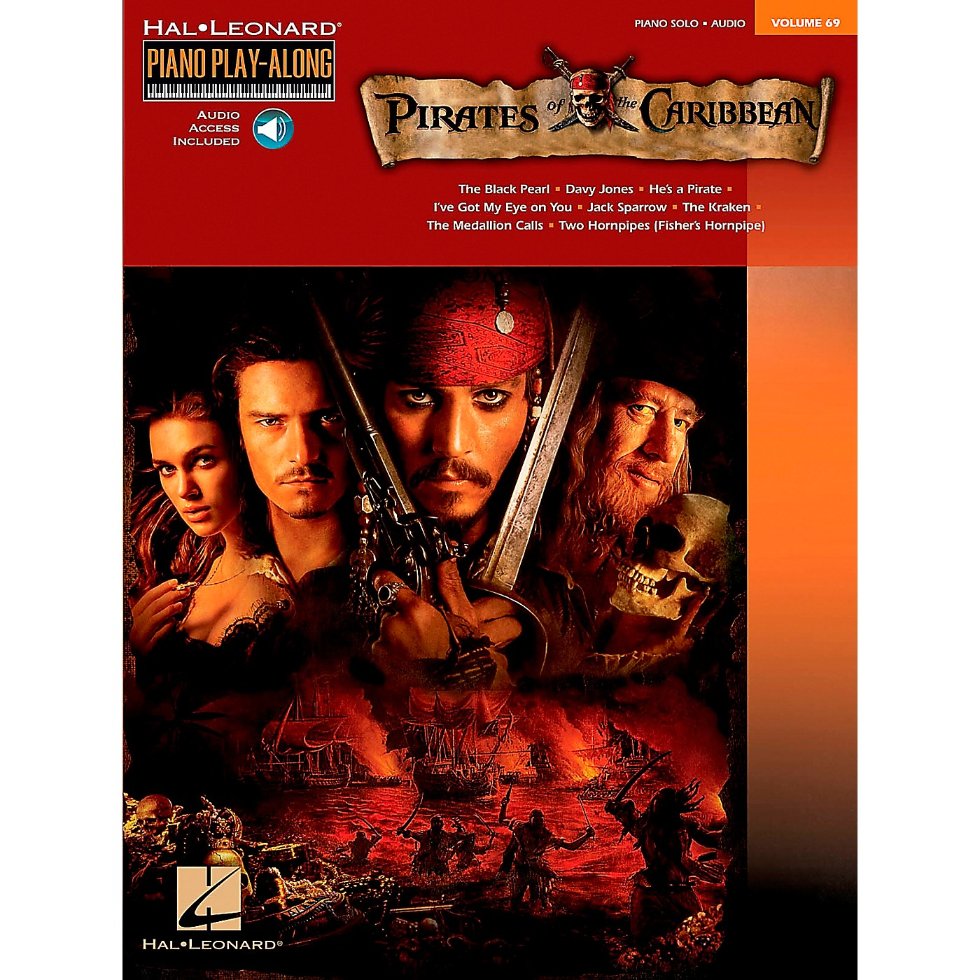 Hal Leonard Pirates Of The Caribbean - Piano Play-Along Volume 69 (CD/Pkg) arranged for piano, vocal, and guitar (P/V/G) thumbnail