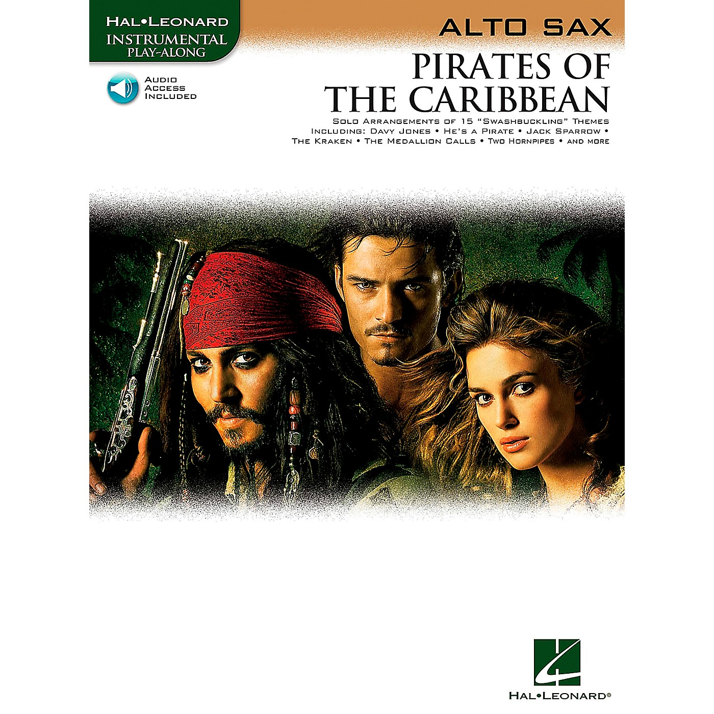 Hal Leonard Pirates Of The Caribbean for Alto Sax Instrumental Play-Along (Book/Online Audio) thumbnail