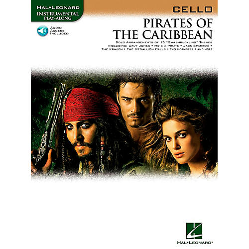 Hal Leonard Pirates Of The Caribbean for Cello Instrumental Play-Along Book/CD thumbnail