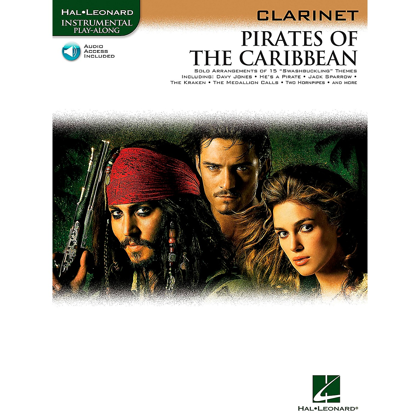 Hal Leonard Pirates Of The Caribbean for Clarinet Instrumental Play-Along Book/CD thumbnail