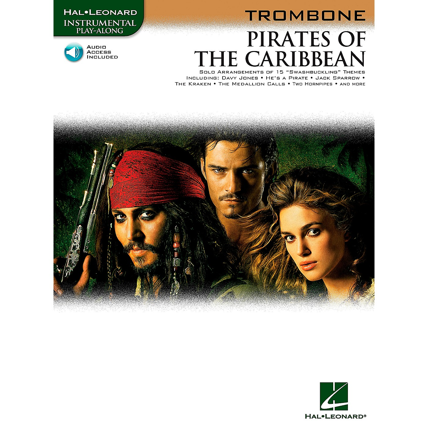 Hal Leonard Pirates Of The Caribbean for Trombone Instrumental Play-Along (Book/Online Audio) thumbnail