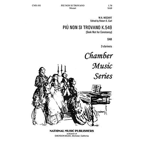 Hal Leonard Piu Non Si Trovano SAB composed by Robert Carl thumbnail