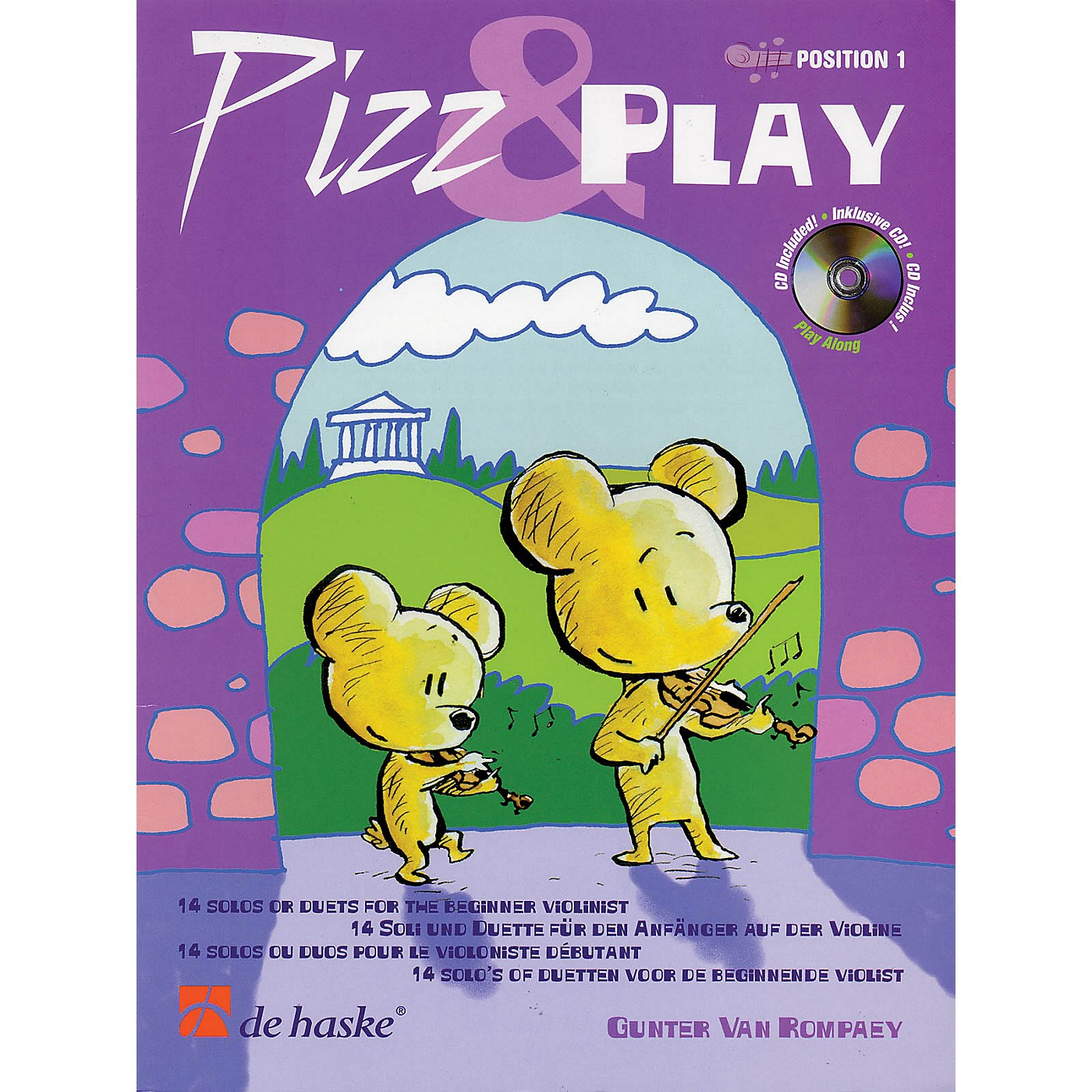 De Haske Music Pizz & Play (14 Solos or Duets for the Beginner Violinist) De Haske Play-Along Book Series thumbnail