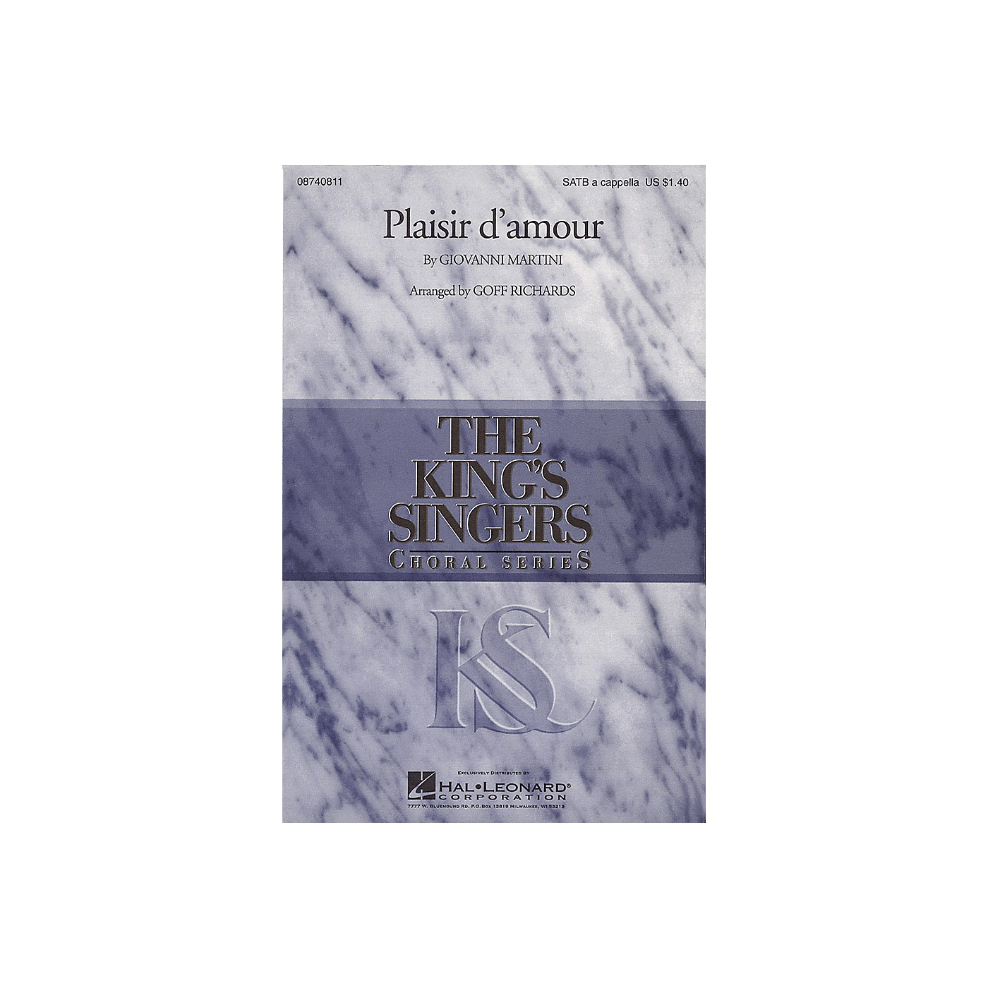 Hal Leonard Plaisir d'Amour SATB a cappella by The King's Singers arranged by Goff Richards thumbnail