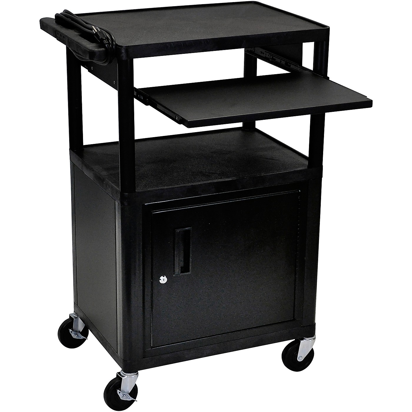 H. Wilson Plastic Cart with Pullout Keyboard Tray thumbnail