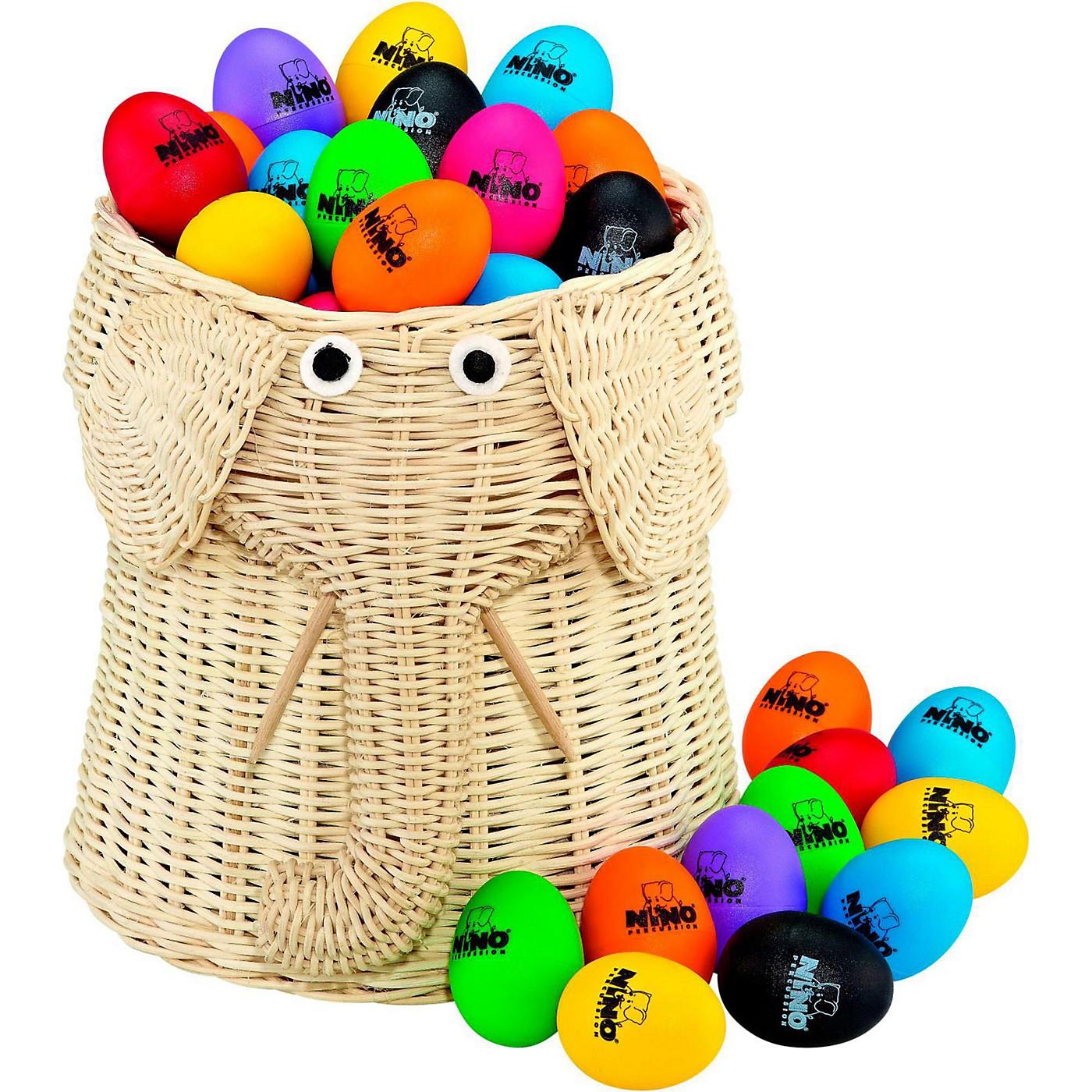 Nino Plastic Egg Shaker 80-Piece Assortment with Basket thumbnail