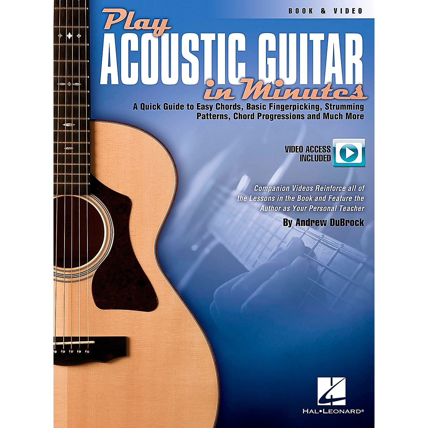 Hal Leonard Play Acoustic Guitar In Minutes Book/DVD thumbnail