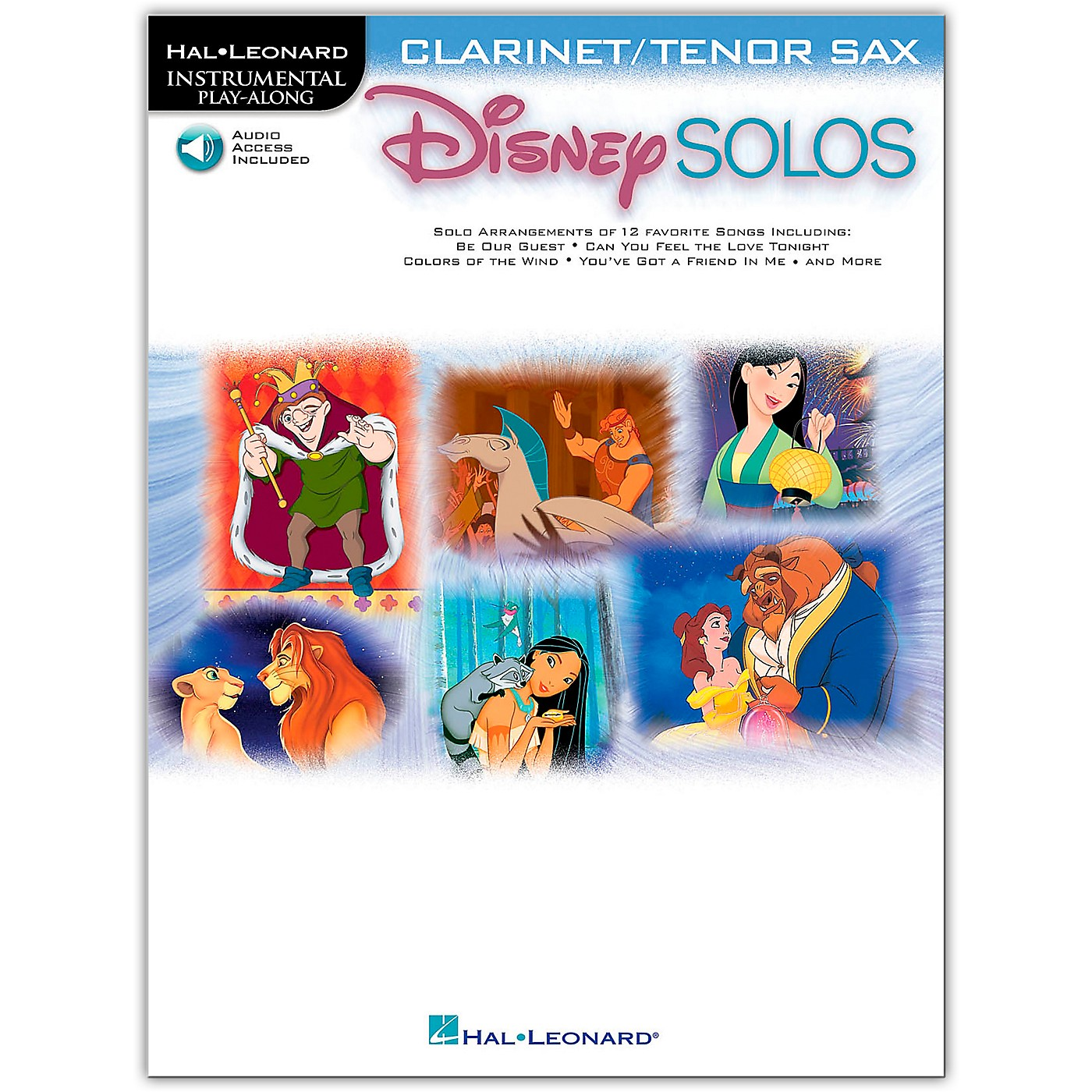 Hal Leonard Play-Along Disney Solos Book with Online Audio-Clarinet thumbnail