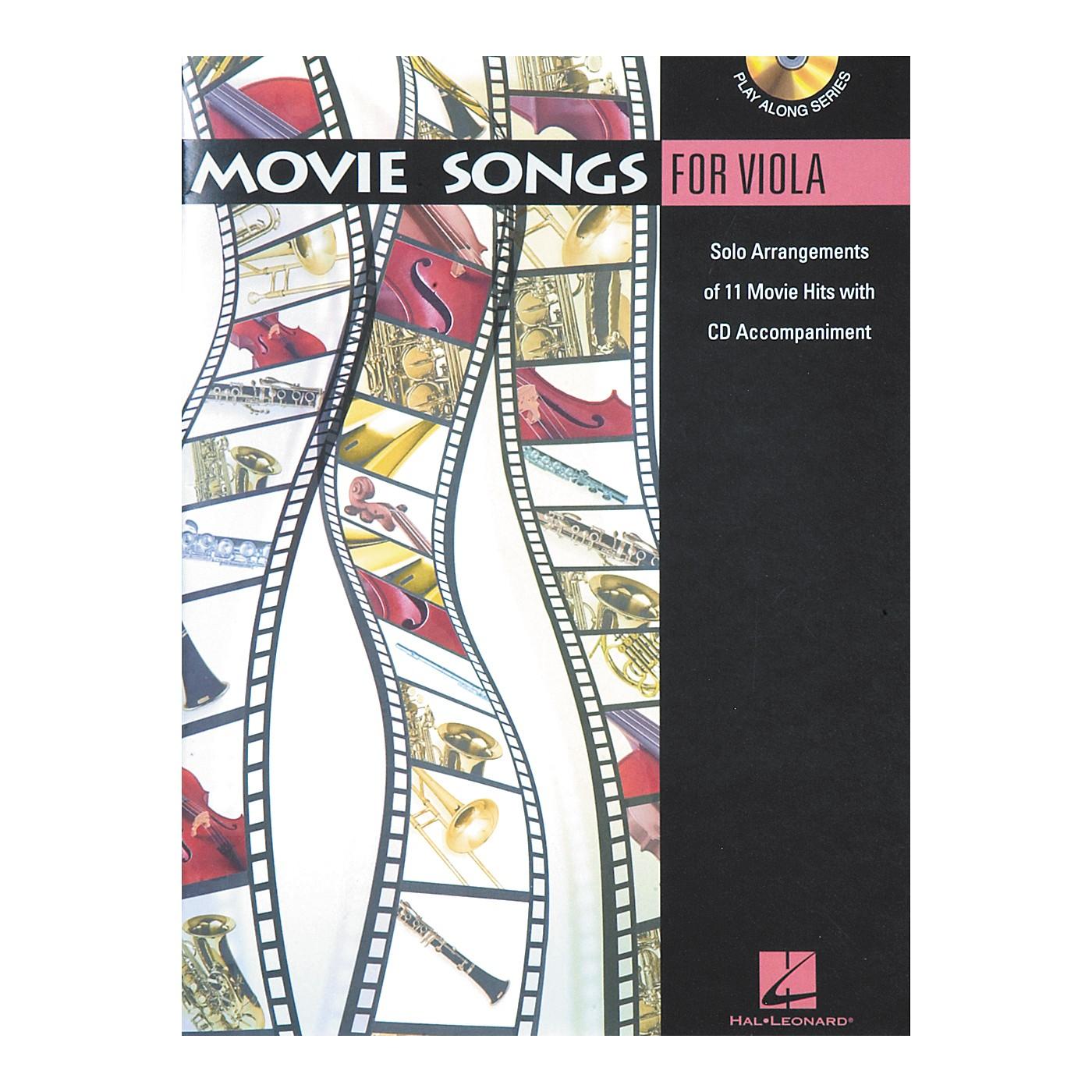 Hal Leonard Play-Along Movie Songs Book with CD Viola thumbnail