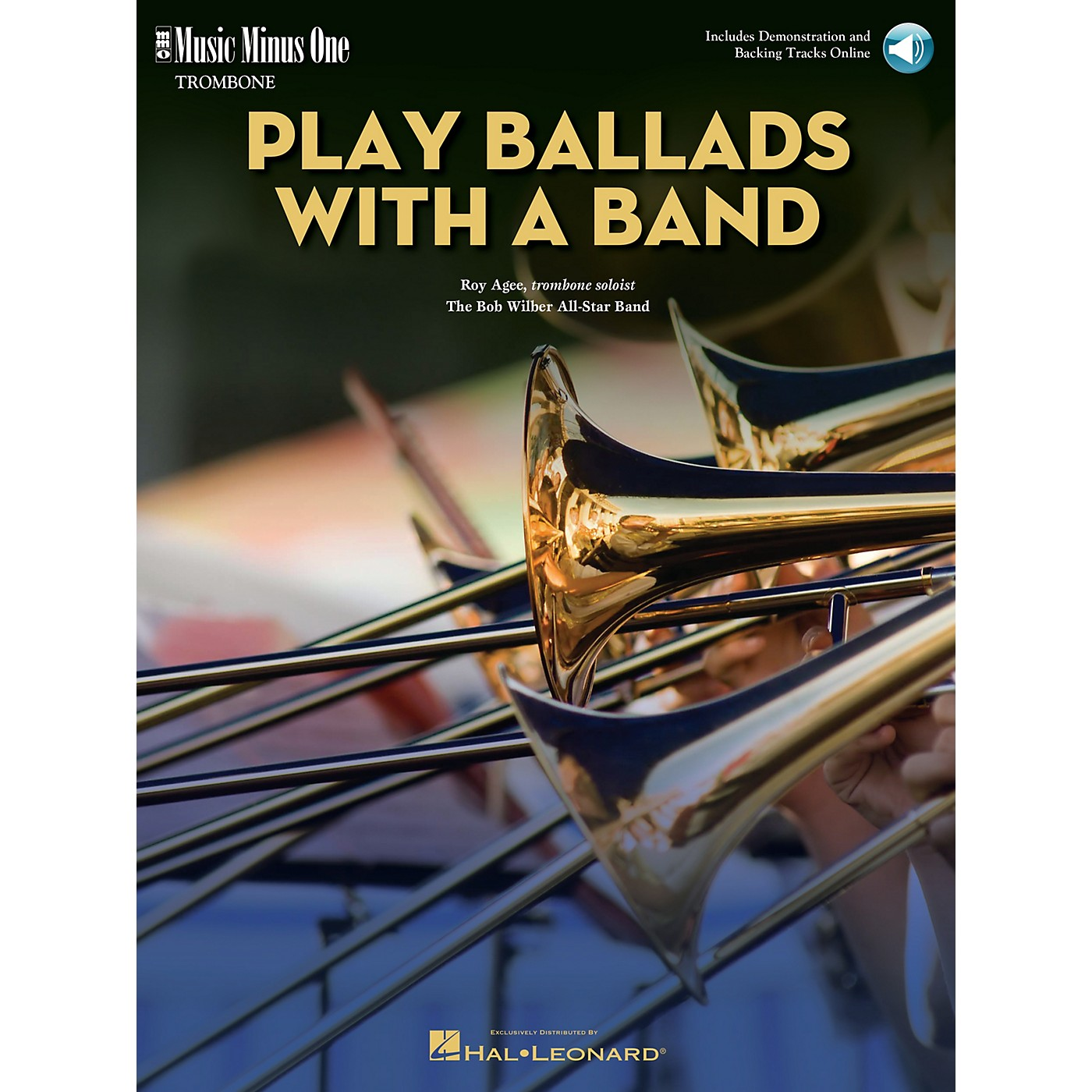 Music Minus One Play Ballads with a Band (Music Minus One Trombone) Music Minus One Series Softcover with CD by Roy Agee thumbnail
