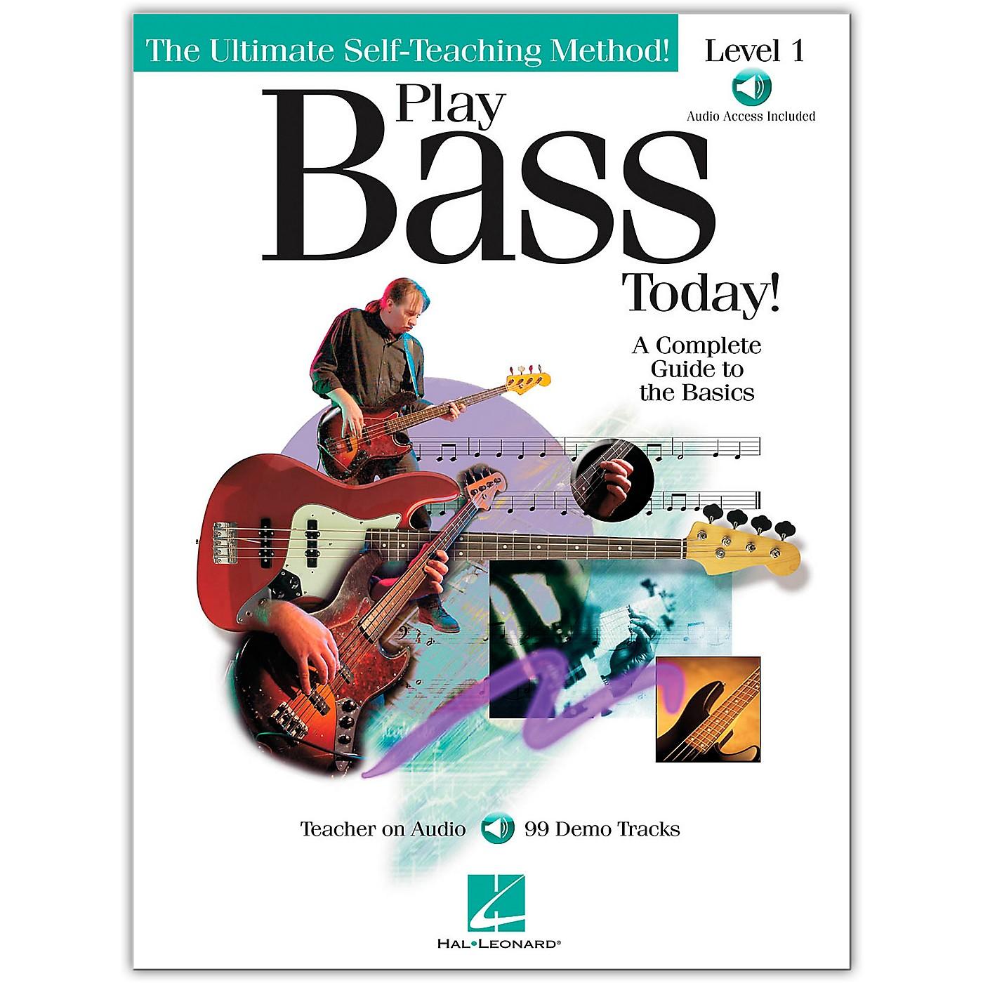 Hal Leonard Play Bass Today! - Level 1 (Book/Online Audio) thumbnail