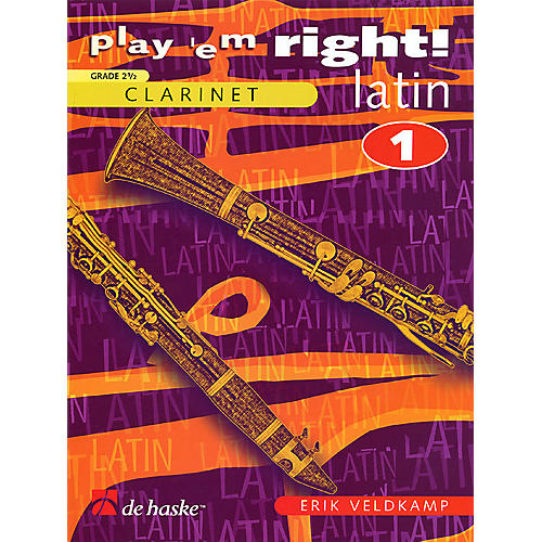 De Haske Music Play 'Em Right Latin - Vol. 1 (Vol. 1 - Clarinet) De Haske Play-Along Book Series thumbnail