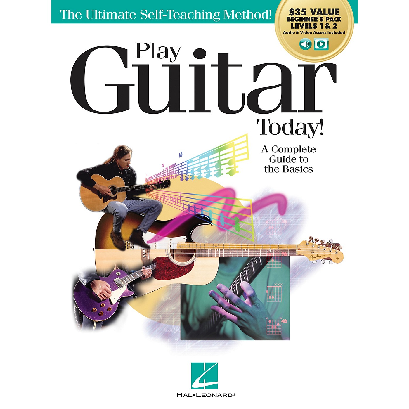 Hal Leonard Play Guitar Today!  All-in-One Beginner's Pack Includes Book 1, Book 2, Audio & Video Book/Media Online thumbnail