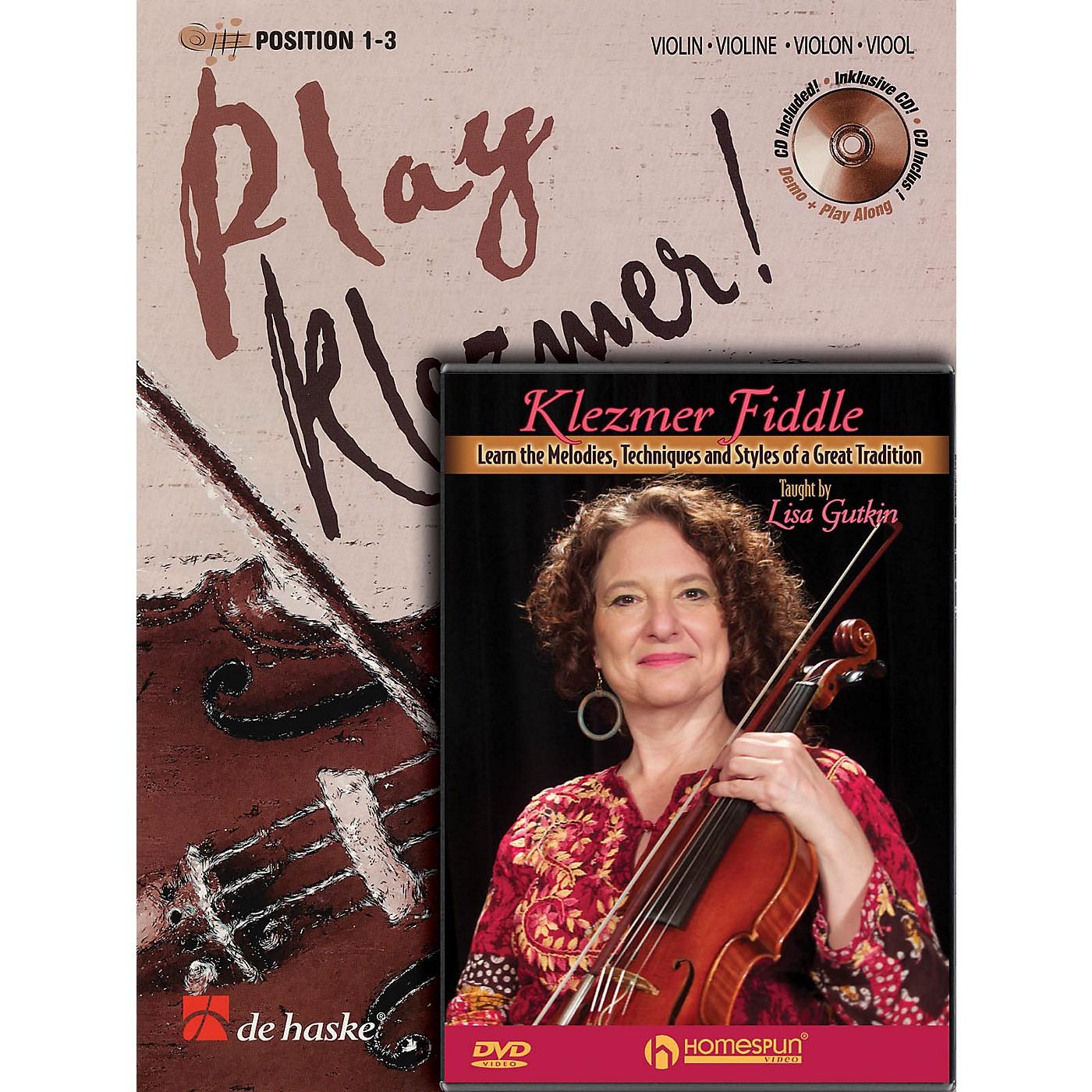 Homespun Play Klezmer - Violin/Fiddle Bundle Pack Homespun Tapes Series Performed by Lisa Gutkin thumbnail