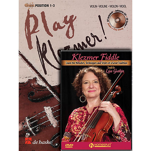 Homespun Play Klezmer - Violin/Fiddle Bundle Pack Homespun Tapes Series Performed by Lisa Gutkin thumbnail
