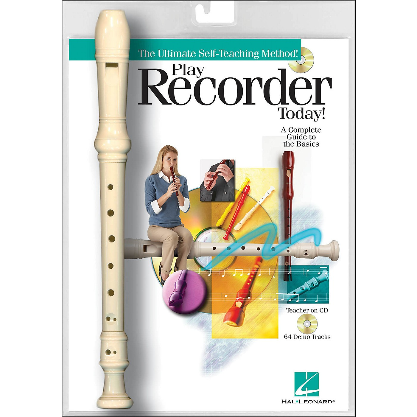 Hal Leonard Play Recorder Today! Book/Online Audio with Recorder Instrument thumbnail