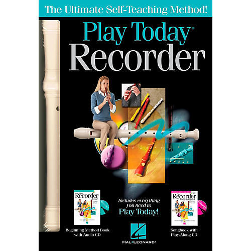 Hal Leonard Play Recorder Today Complete Kit Includes Method, Songbook,  2 CD's and Recorder thumbnail
