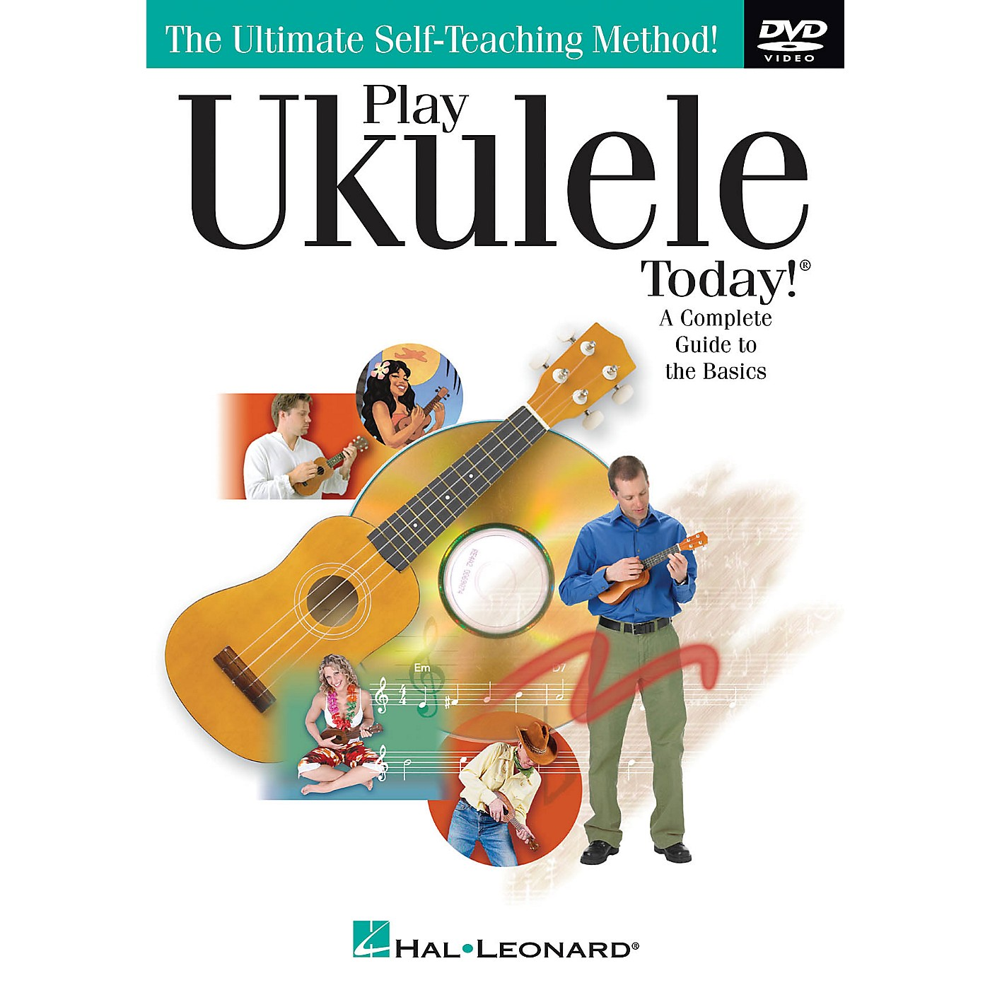 Hal Leonard Play Ukulele Today! (A Complete Guide to the Basics) DVD Series DVD Written by John Nicholson thumbnail