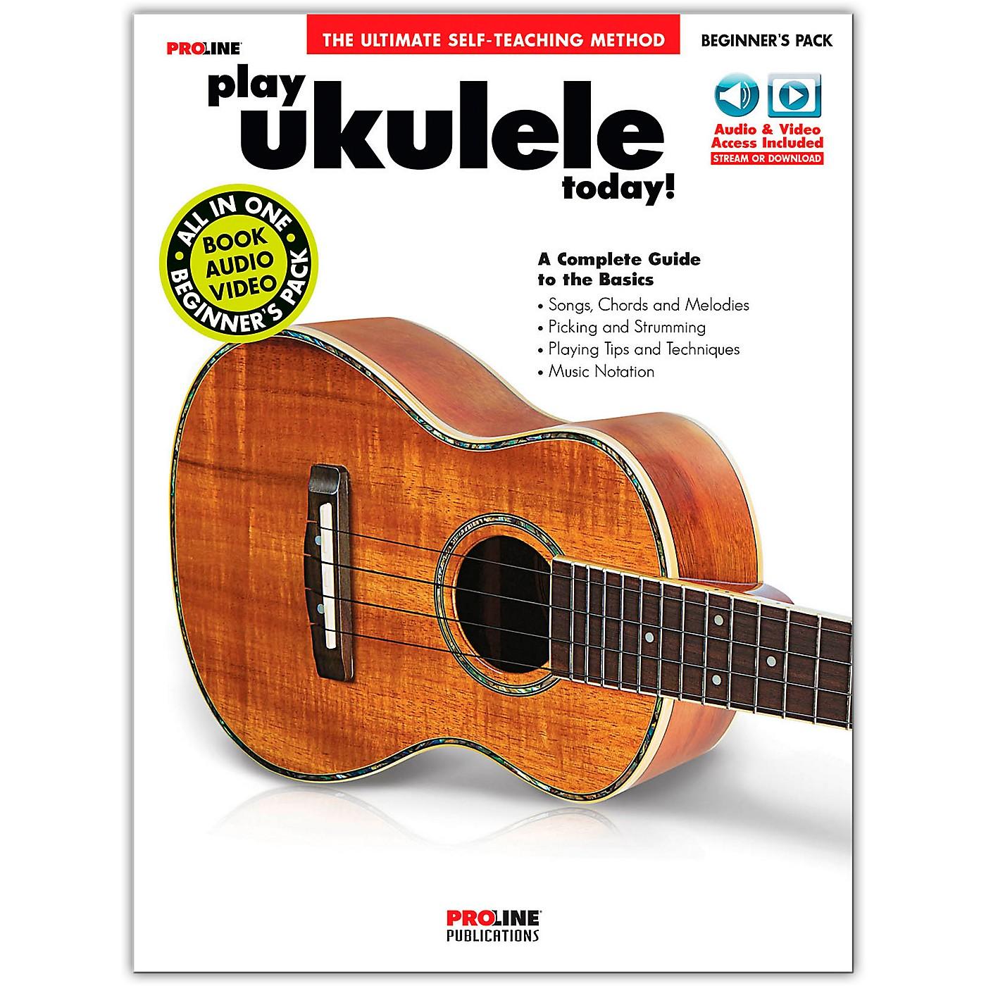 Proline Play Ukulele Today! Beginner's Pack Book/Audio & Video Online thumbnail