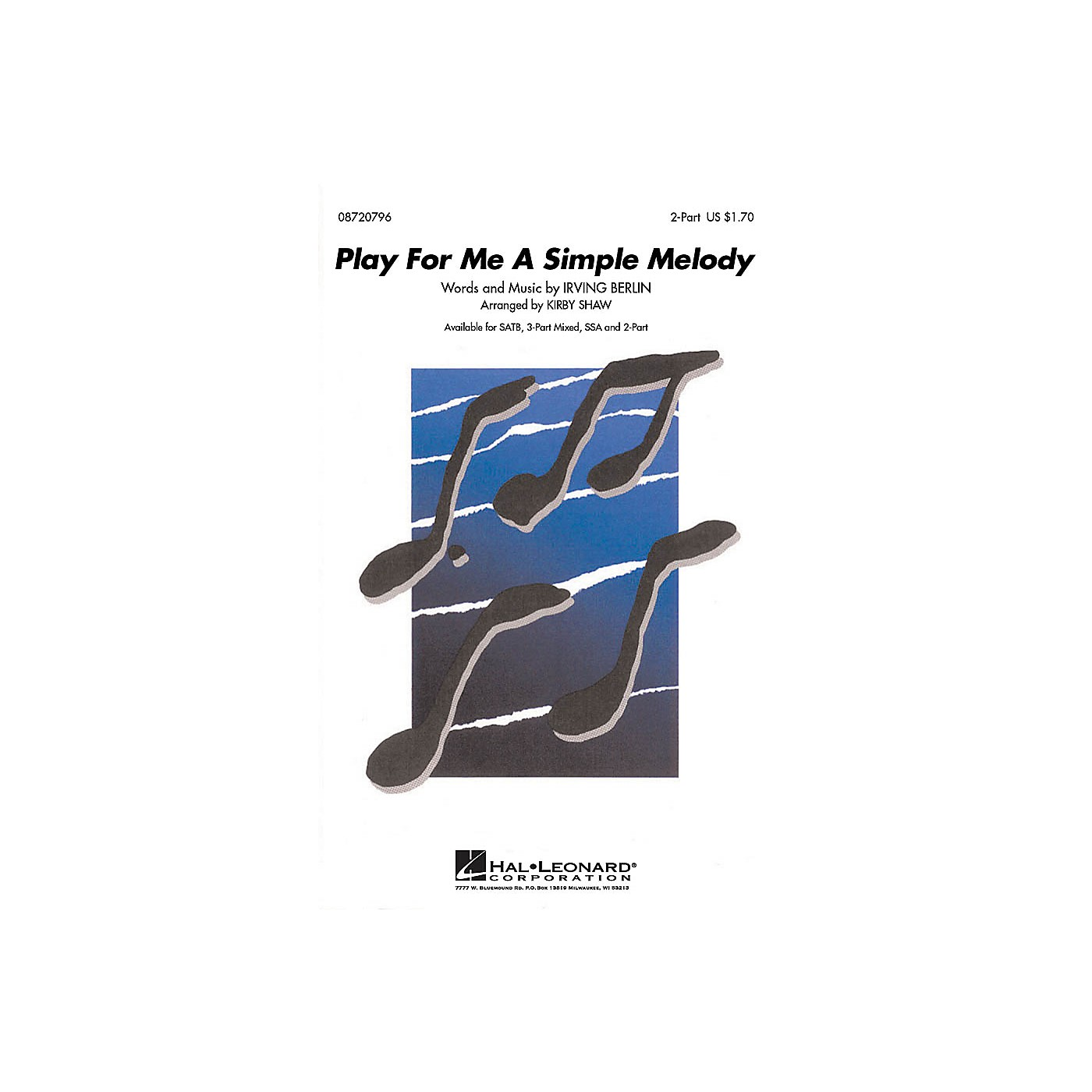 Hal Leonard Play for Me a Simple Melody 2-Part arranged by Kirby Shaw thumbnail