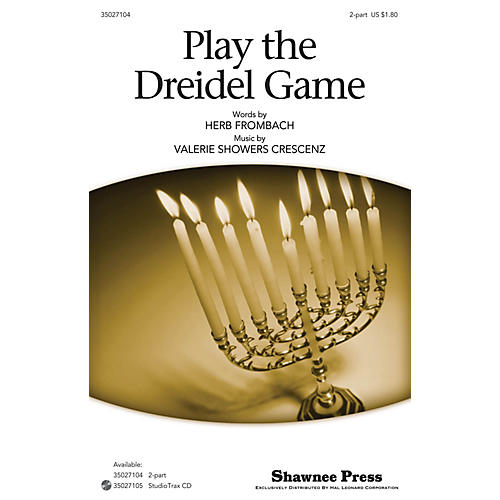 Shawnee Press Play the Dreidel Game 2-Part composed by Herb Frombach thumbnail