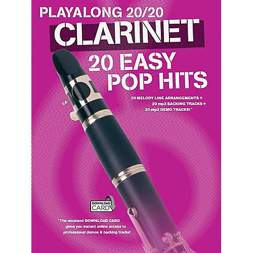 Music Sales Playalong 20/20 Clarinet - 20 Easy Pop Hits (Book/Audio) thumbnail