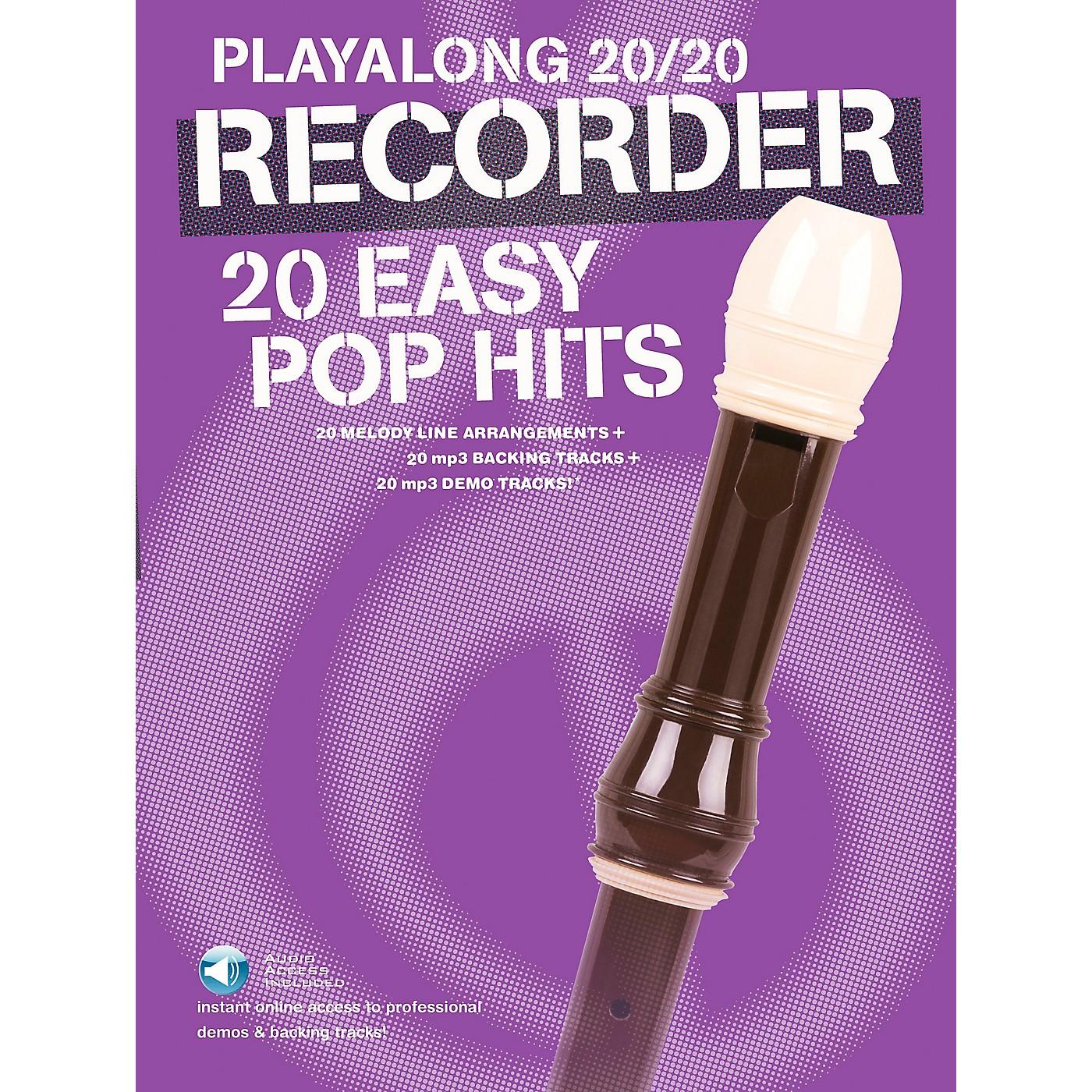 Music Sales Playalong 20/20 Recorder - 20 Easy Pop Hits (Book/Audio) thumbnail