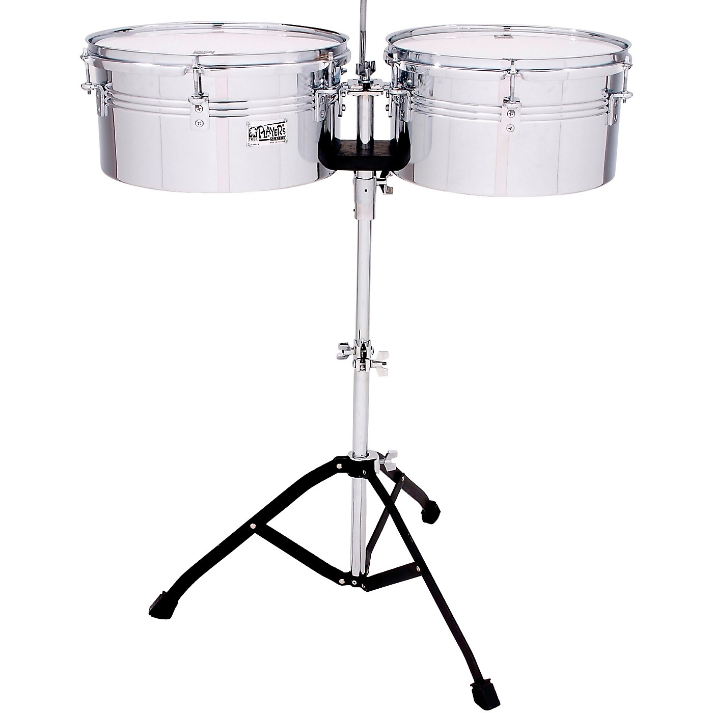 Toca Players Series Timbale Set with 13 and 14 in. steel drums and single braced stand thumbnail