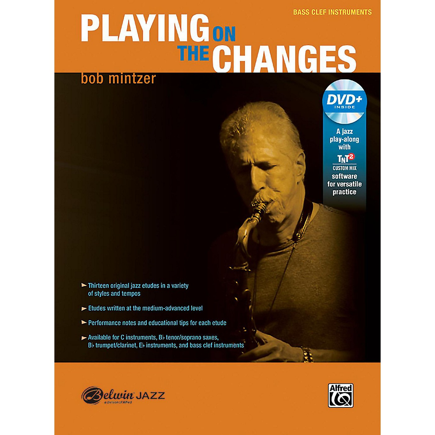 BELWIN Playing on the Changes Bass Clef Instruments Book & DVD thumbnail
