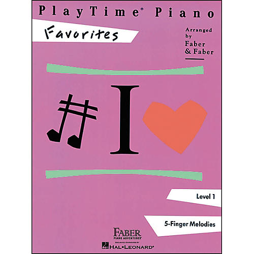Faber Piano Adventures Playtime Piano Favorites Level 1 5 Finger Melodies - Faber Piano thumbnail
