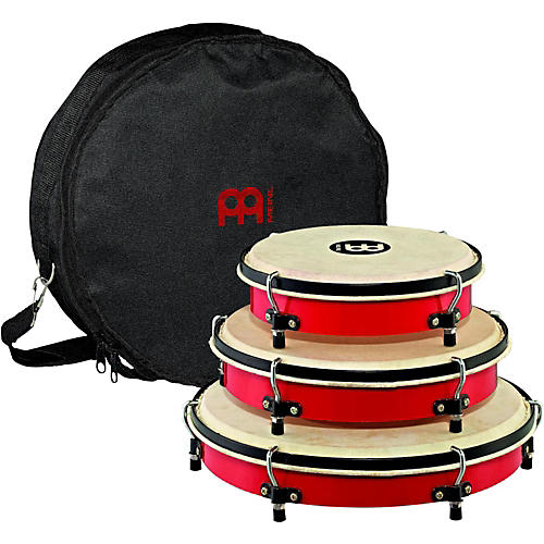 Meinl Plenera Set of 8, 10, & 12 ABS Frames with Goat Skin Heads & Nylon Bag thumbnail