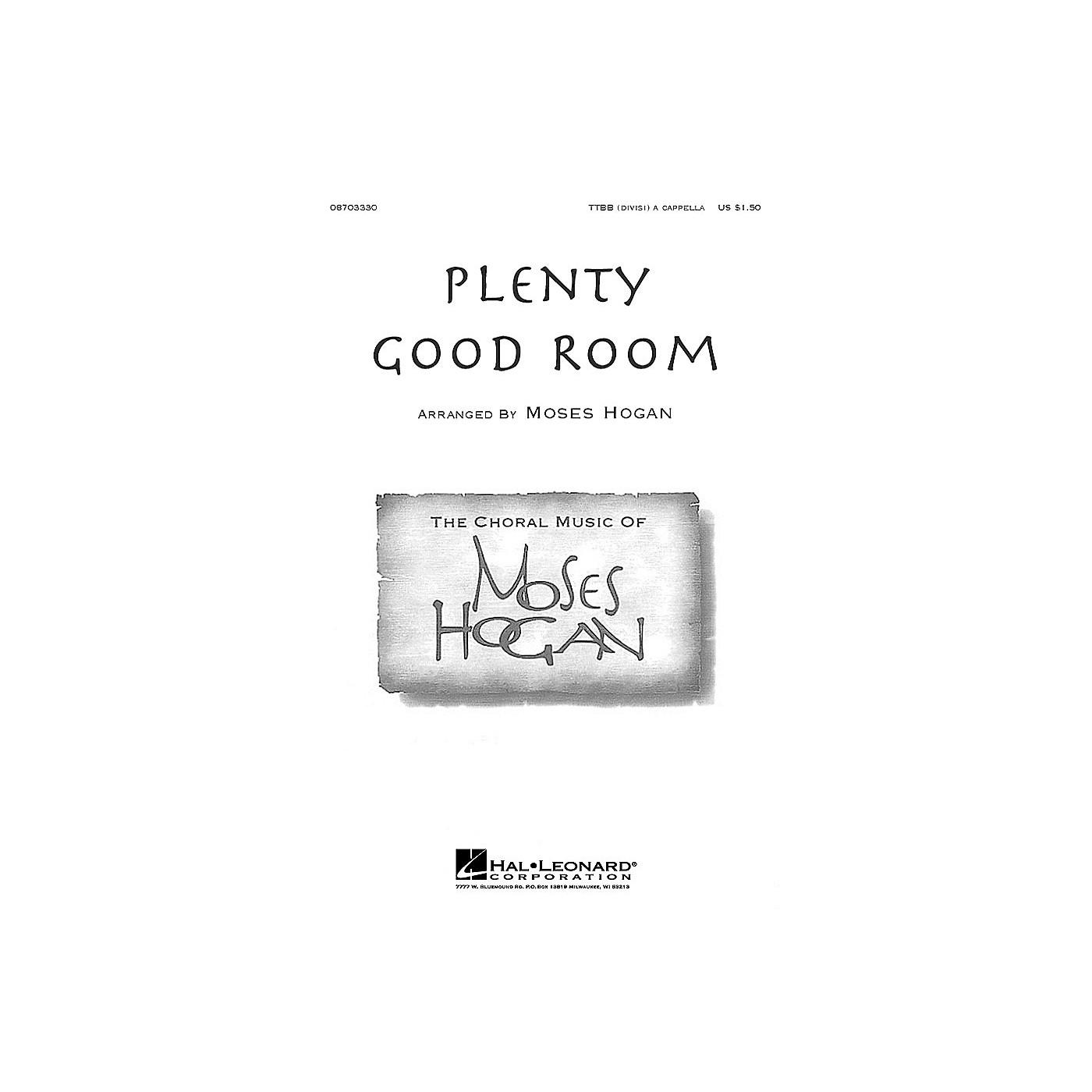 Hal Leonard Plenty Good Room TTBB Div A Cappella arranged by Moses Hogan thumbnail