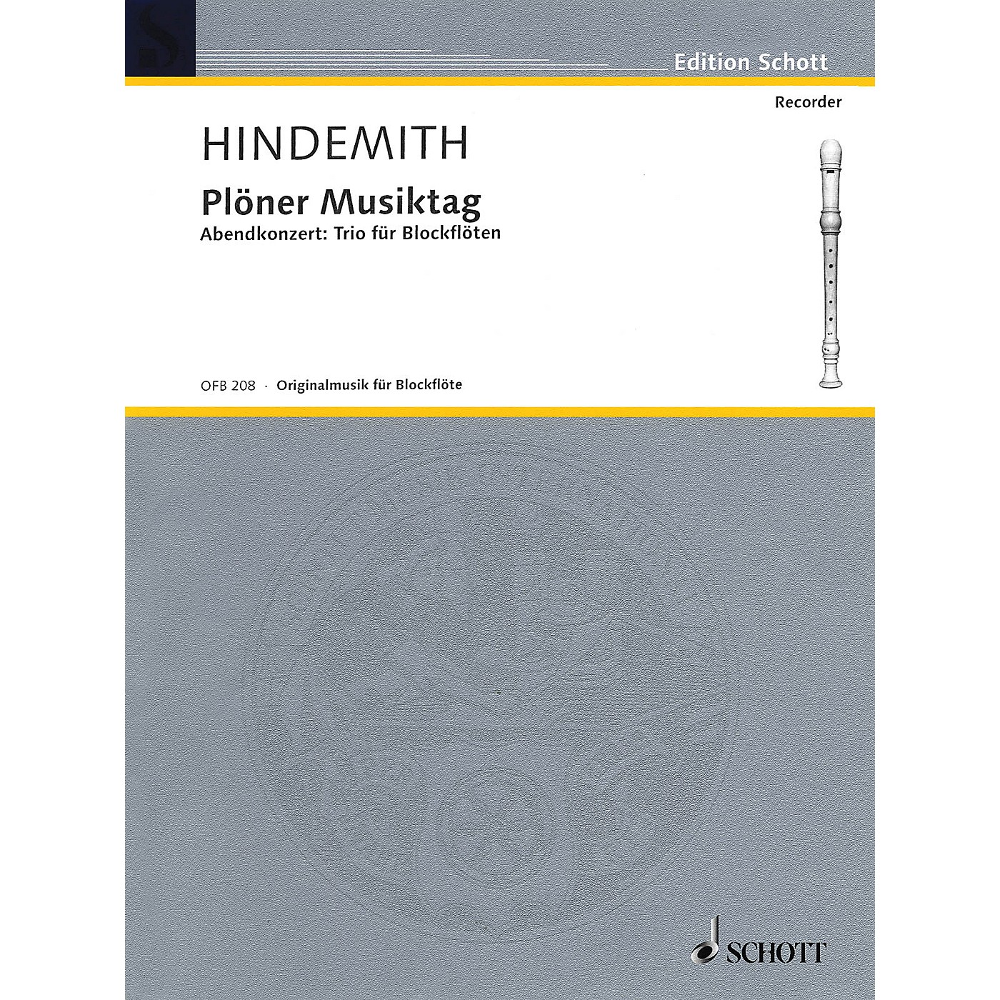Schott Plöner Musiktag - Evening Concert No. 5 (Recorder Trio) Woodwind Ensemble Series by Paul Hindemith thumbnail