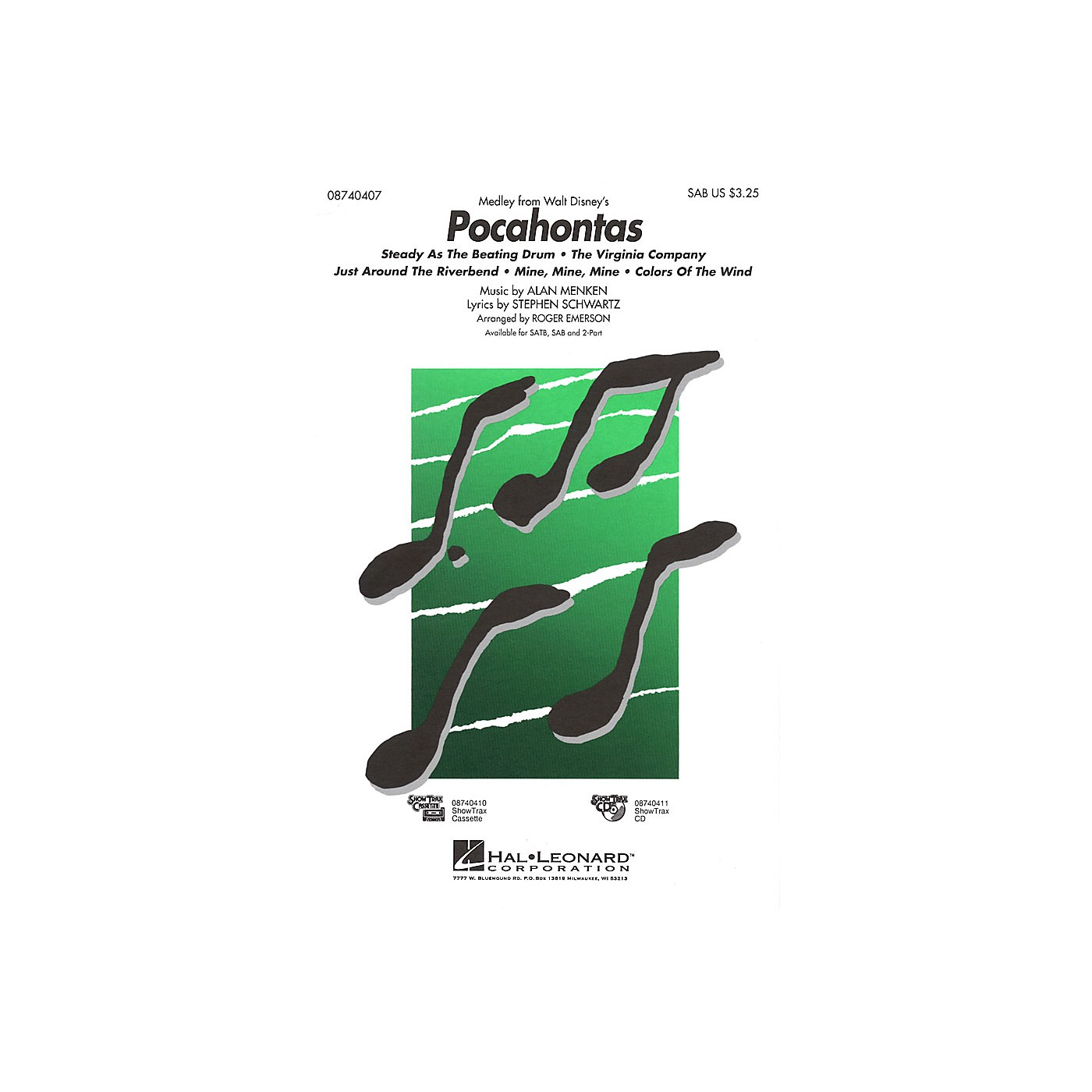 Hal Leonard Pocahontas (Medley) ShowTrax CD Arranged by Roger Emerson thumbnail