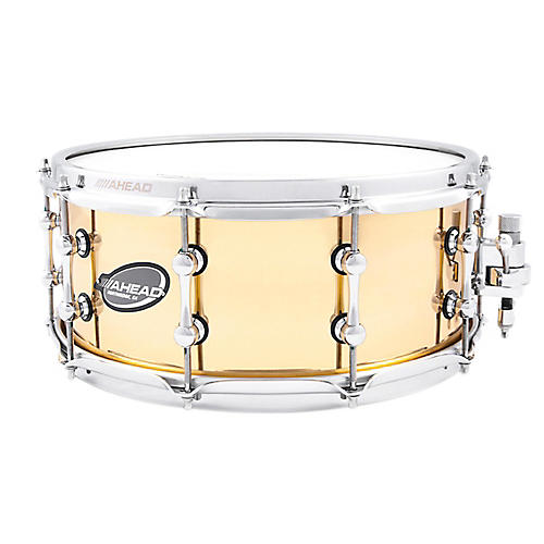 Ahead Polished Cast Bell Brass Snare Drum thumbnail